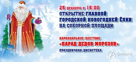 Парад Дедов Морозов в Белгороде 26 декабря 2015 года в 16:00