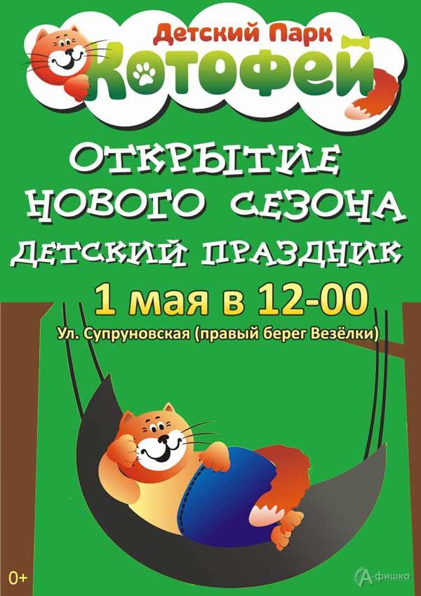 Праздник «Котофей для детей» в честь открытия сезона: Детская афиша Белгорода