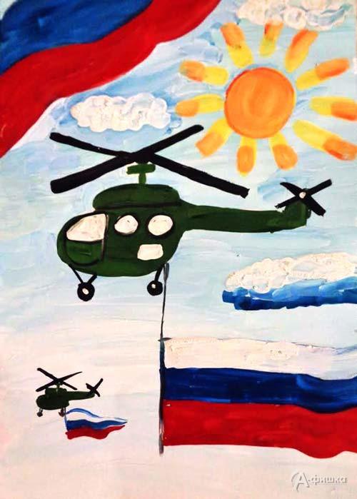 Занятие «Военный вертолет» в изостудии клуба «Шёлковые детки»: Детская афиша Белгорода