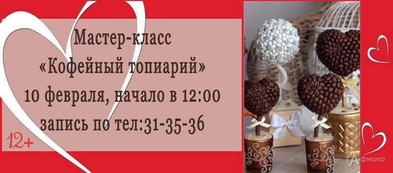 Мастер-класс «Кофейный топиарий» в Фотогалерее: Не пропусти в Белгороде
