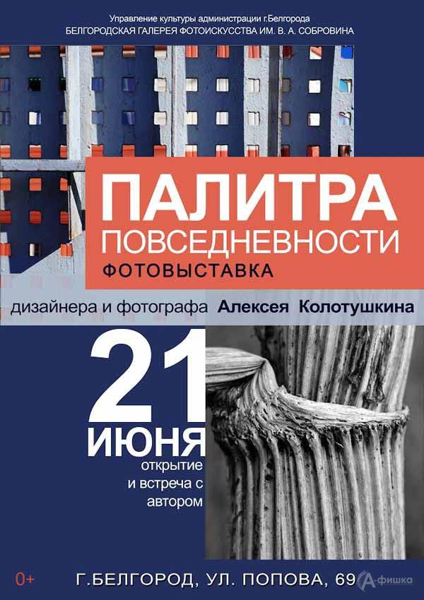 Персональная фотовыставка Алексея Колотушкина «Палитра повседневности»: Афиша выставок в Белгороде
