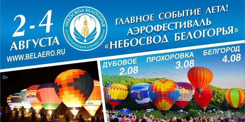 VII аэрофестиваль «Небосвод Белогорья – 2019» в Белгороде 2-4 августа 2019 года