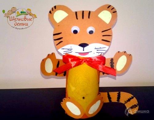 Мастер-класс «Веселый тигренок» в клубе Шелковые Детки: Детская афиша Белгорода