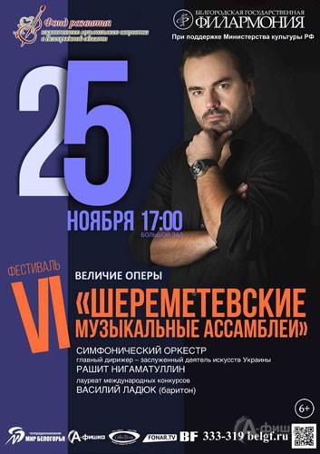 VI «Шереметевские музыкальные ассамблеи» в Белгороде: Концерт «Величие оперы»