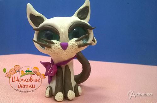 Мастер-класс «Котёнок из пластилина» в клубе Шелковые Детки: Детская афиша Белгорода
