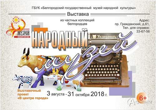 Выставка «Народный музей» в музее народной культуры: Афиша выставок в Белгороде