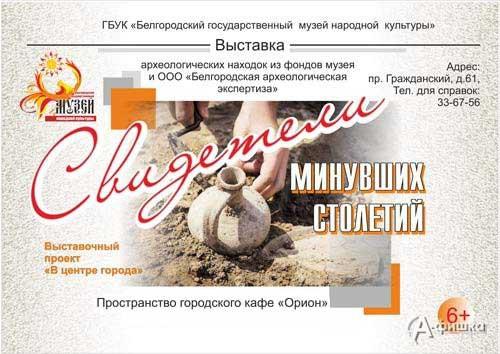 Выставка «Свидетели минувших столетий» в музее народной культуры: Афиша выставок в Белгороде