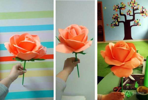 Мастер-класс «Роза из фоамирана» в клубе «Шёлковые детки»: Детская афиша Белгорода