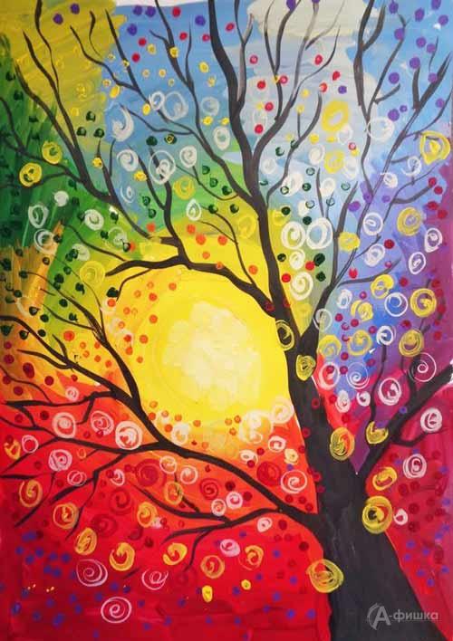 Мастер-класс «Радужное дерево» визостудии клуба «Шёлковые детки»: Детская афиша Белгорода