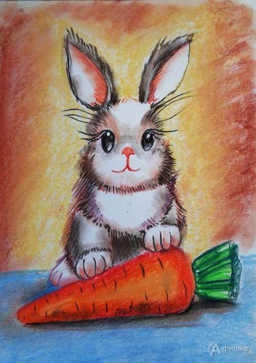 Занятие «Зайка с морковкой» в изостудии клуба «Шёлковые детки»: Детская афиша Белгорода
