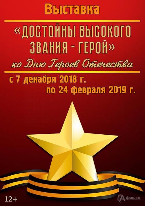 Выставка «Достойны высокого звания — Герой»: Афиша выставок в Белгороде