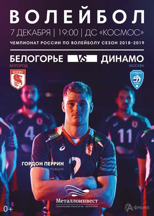 Матч «Белогорье» — «Динамо» (Москва) 7 декабря 2018 года: Афиша волейбола в Белгороде