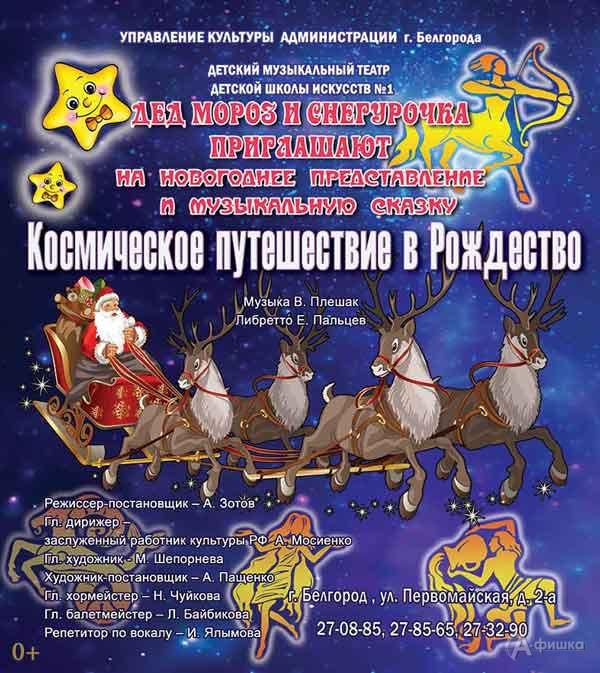 Новогоднее представление «Космическое путешествие в Рождество»: Новогодняя афиша Белгорода