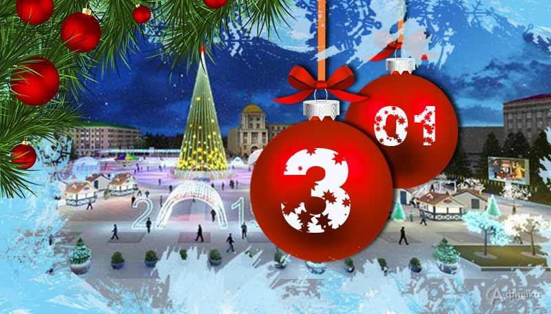 Новогодние каникулы на Соборной площади Белгорода: Афиша мероприятий на 3 января 2019 г.
