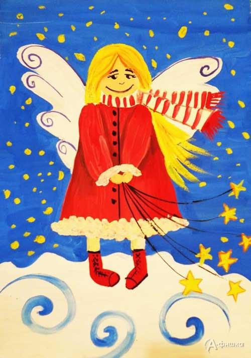 Занятие «Ангел в красном пальто» в изостудии клуба «Шёлковые детки»: Детская афиша Белгорода