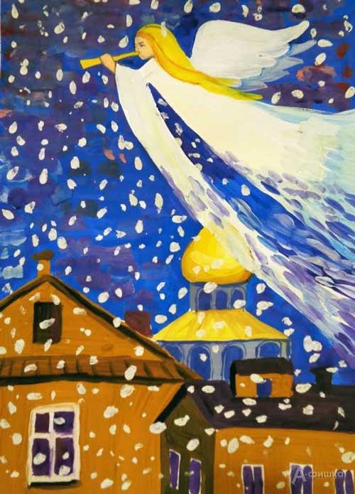 Занятие «Ангел над городом» в изостудии клуба «Шёлковые детки»: Детская афиша Белгорода