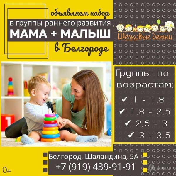 Игровые занятия в группах раннего развития «Мама и малыш»: Детская афиша Белгорода
