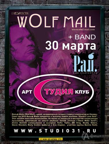 Клубы в Белгороде: концерт Вольфа Мэйла в Арт-клубе «Студия»