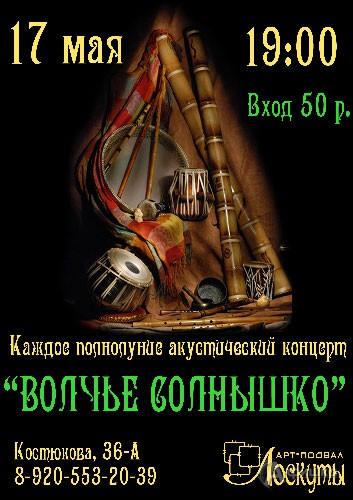 Не пропусти в Белгороде: Бэнд «Волчье солнышко»