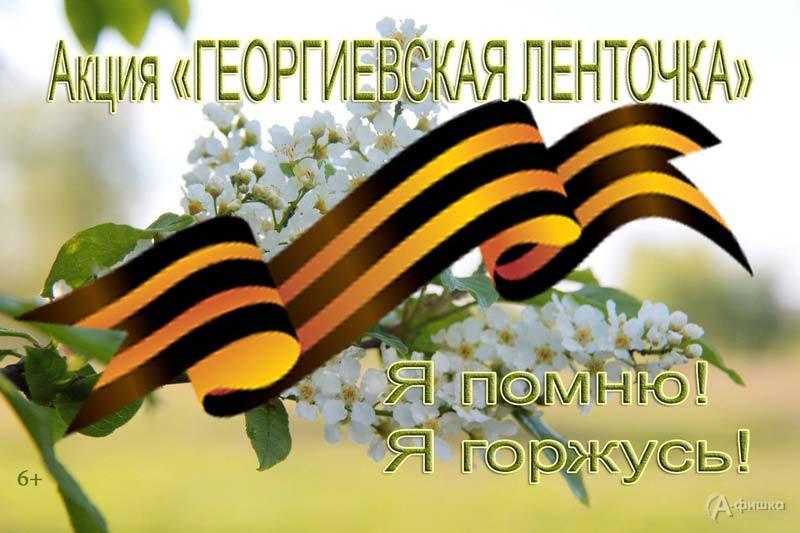 Патриотическая акция «Георгиевская лента» в диораме: Не пропусти в Белгороде
