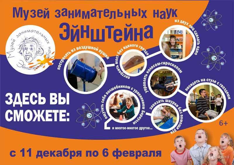 Выставка «Музей занимательных наук Эйнштейна» в краеведческом музее: Афиша музеев Белгорода
