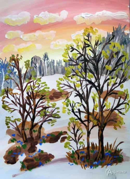 Занятие «Ранняя весна» визостудии клуба «Шёлковые детки»: Детская афиша Белгорода