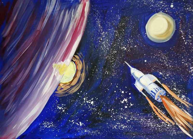 Занятие «Космический корабль» визостудии клуба «Шёлковые детки»: Детская афиша Белгорода