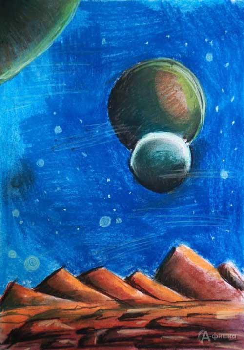 Занятие «Космический ландшафт» визостудии клуба «Шёлковые детки»: Детская афиша Белгорода
