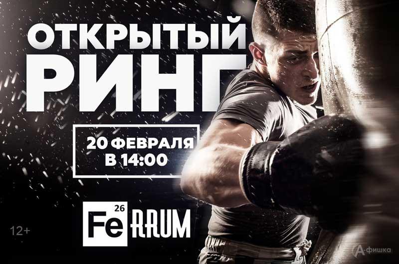 Турнир «Открытый ринг» в Бойцовском клубе FeRRUM: Афиша спорта в Белгороде