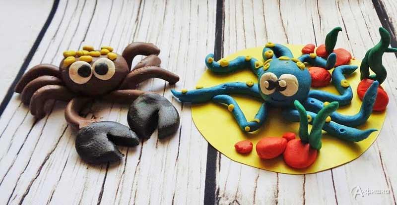 Занятие «Морские обитатели» вклубе «Шёлковые детки»: Детская афиша Белгорода