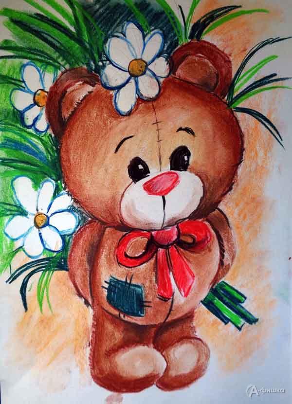 Занятие «Мишка сромашками» визостудии клуба «Шёлковые детки»: Детская афиша Белгорода