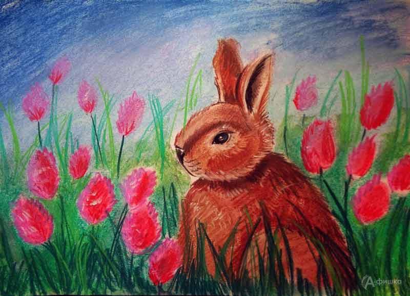 Занятие «Кролик в клевере» визостудии клуба «Шёлковые детки»: Детская афиша Белгорода