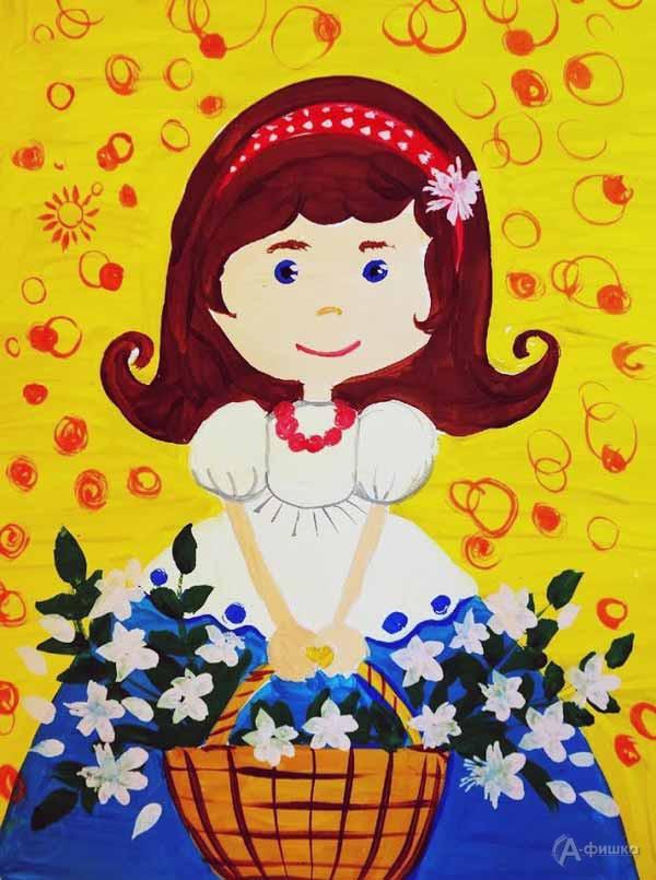 Занятие «Принцесса с корзинкой цветов» визостудии клуба «Шёлковые детки»: Детская афиша Белгорода