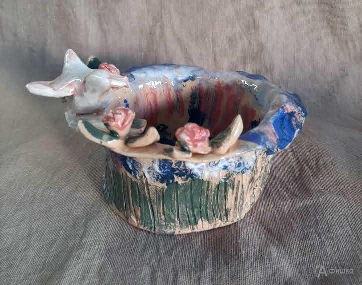 Мастер-класс «Цветочное настроение. Чаша декоративная» в хобби-клубе «АРТ Керамика»: Не пропусти в Б