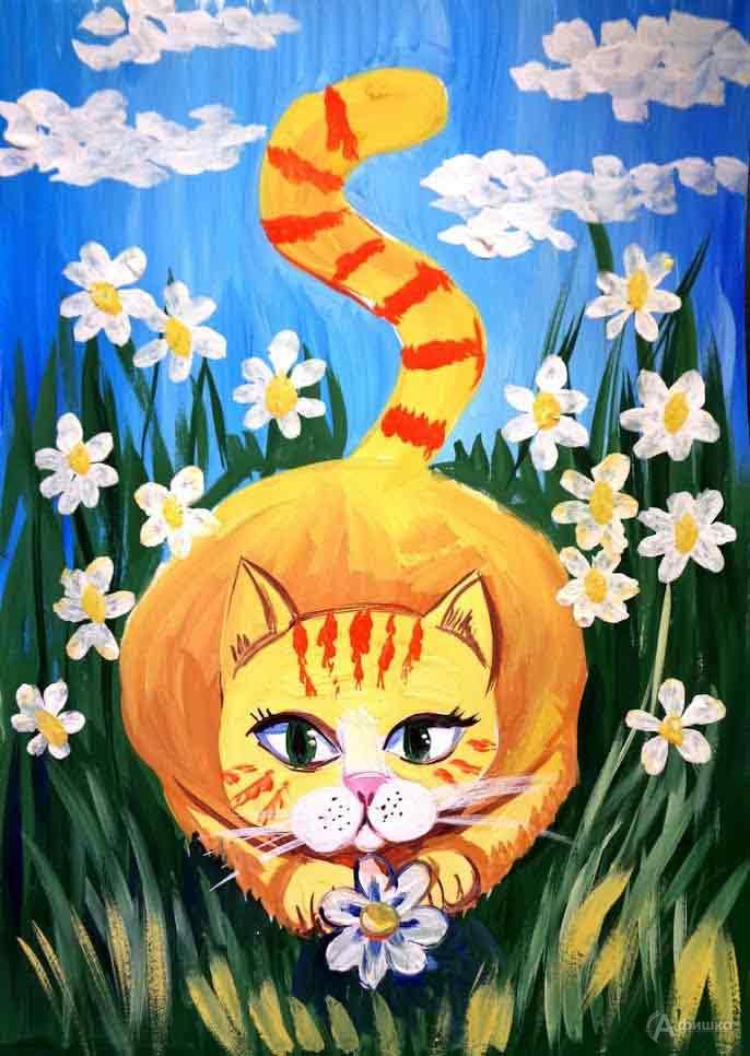Занятие «Солнечная кошка» визостудии клуба «Шёлковые детки»: Детская афиша Белгорода