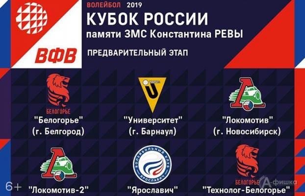 Предварительный этап Кубка России памяти Константина Ревы: Афиша спорта в Белгороде