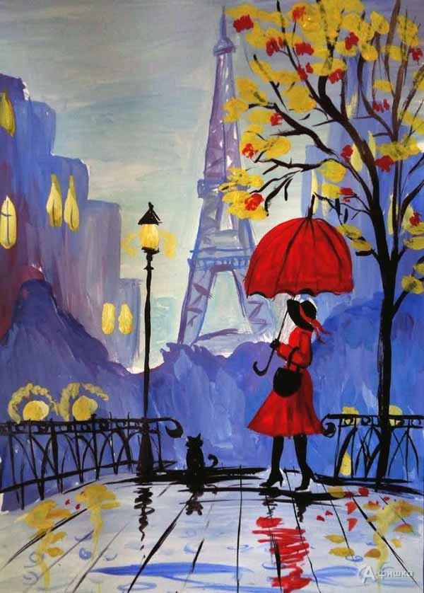 Занятие «Девушка с зонтом» визостудии клуба «Шёлковые детки»: Детская афиша Белгорода