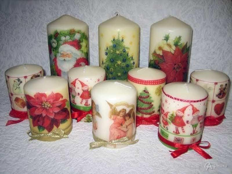 Мастер-класс «Новогодний декупаж свечей»: Детская афиша Белгорода