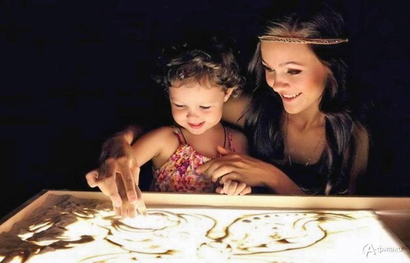 Вечеринка «Песочные сказки для детей и мам»: Детская афиша Белгорода