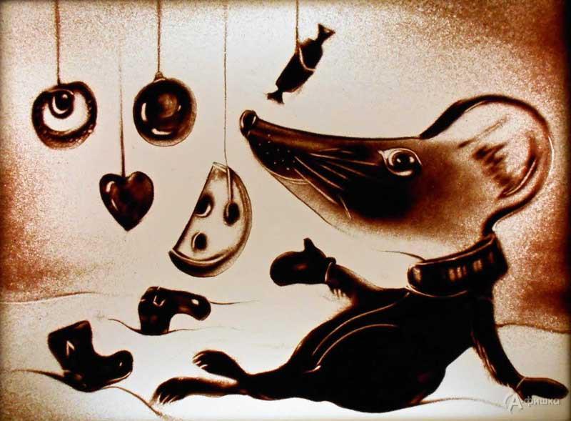 Песочная ёлка «Сказка про мышку»: Детская афиша Белгорода