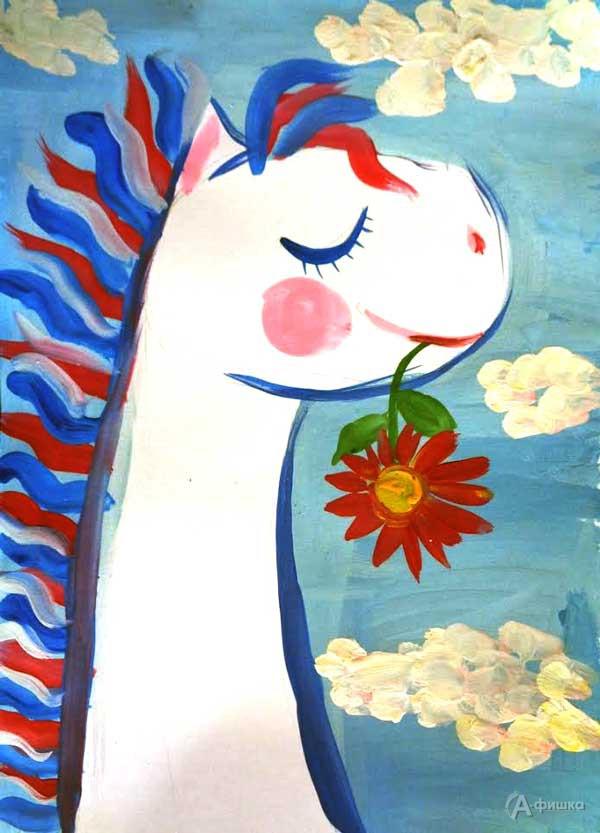 Занятие «Белая лошадка» визостудии клуба «Шёлковые детки»: Детская афиша Белгорода