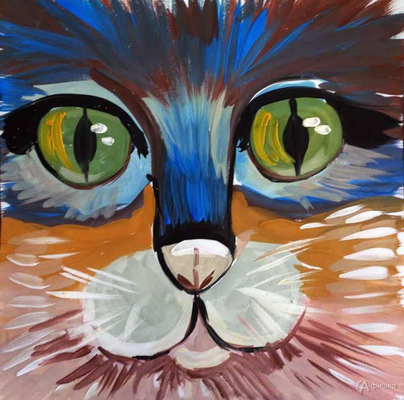 Занятие «Портрет кота» визостудии клуба «Шёлковые детки»: Детская афиша Белгорода