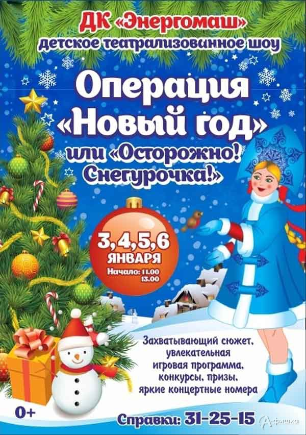 """Шоу «Операция """"Новый год"""", или Осторожно! Снегурочка!»: Детская афиша Белгорода"""
