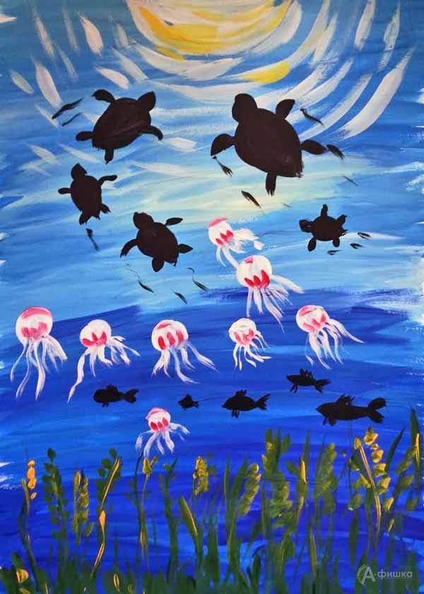 Занятие «Подводный мир» визостудии клуба «Шёлковые детки»: Детская афиша Белгорода