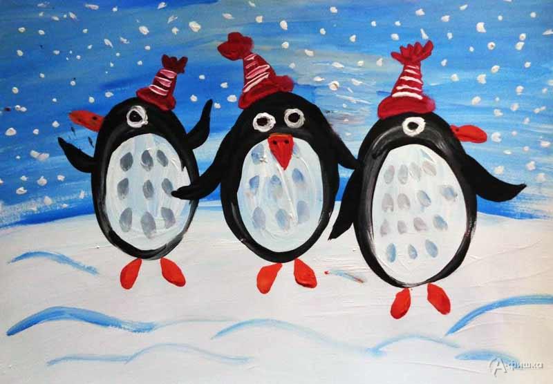 Занятие «Пингвины» визостудии клуба «Шёлковые детки»: Детская афиша Белгорода