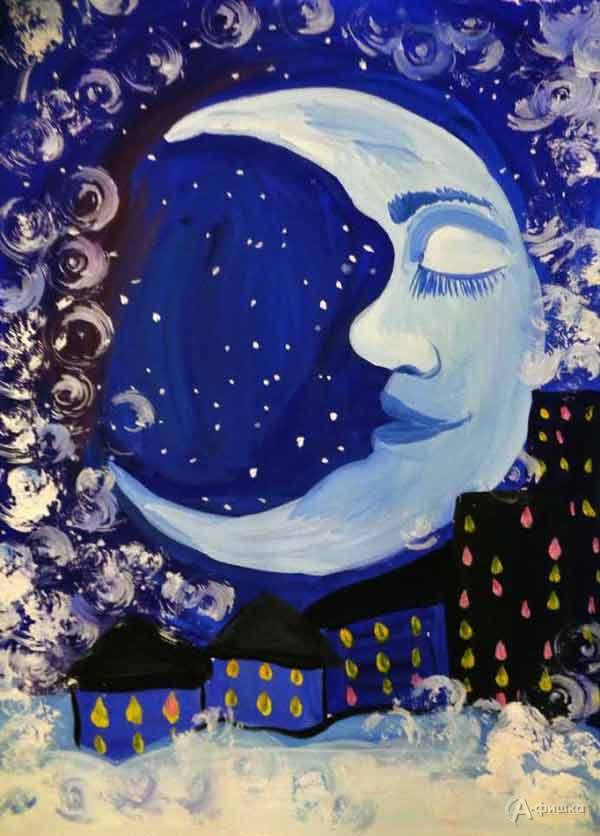 Занятие «Спящий месяц» визостудии клуба «Шёлковые детки»: Детская афиша Белгорода