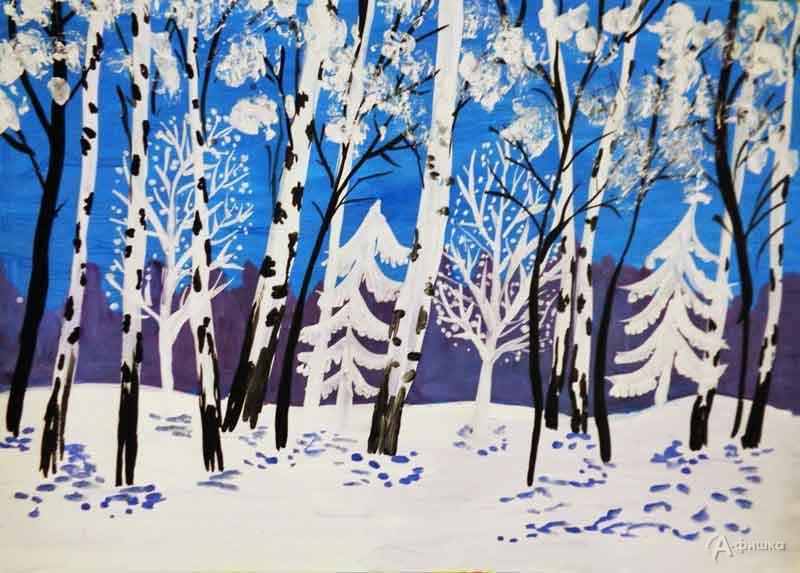 Занятие визостудии «Зима в лесу»: Детская афиша Белгорода