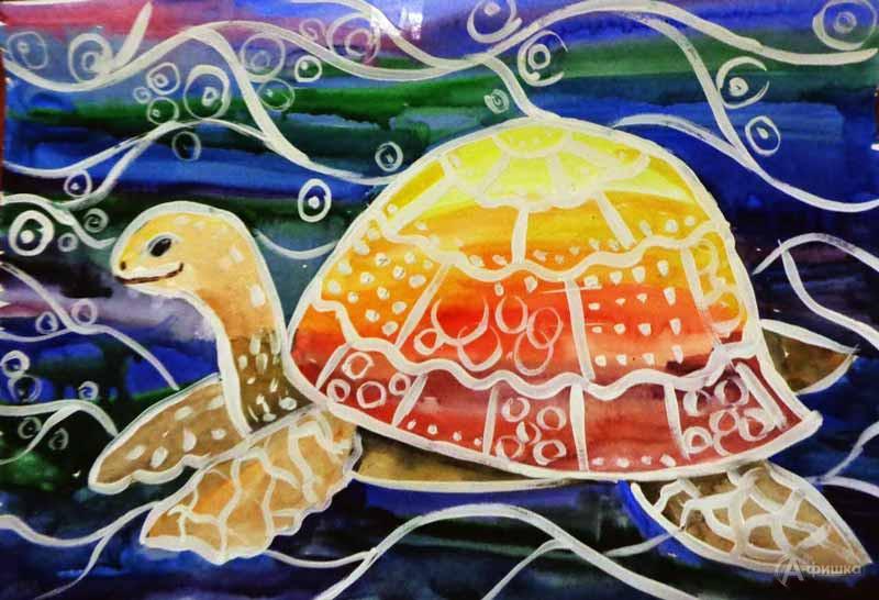 Занятие визостудии «Морская черепаха»: Детская афиша Белгорода