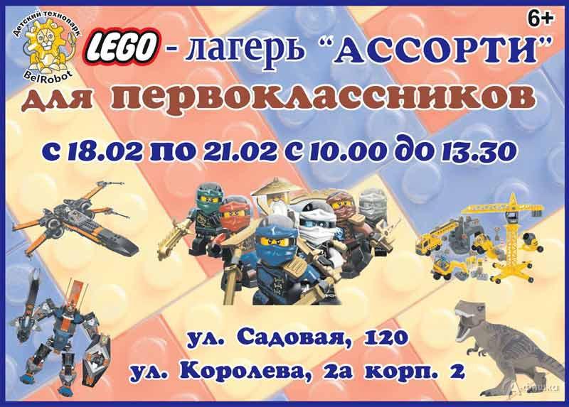 Лего-лагерь для первоклассников «Лего-Ассорти»: Детская афиша Белгорода