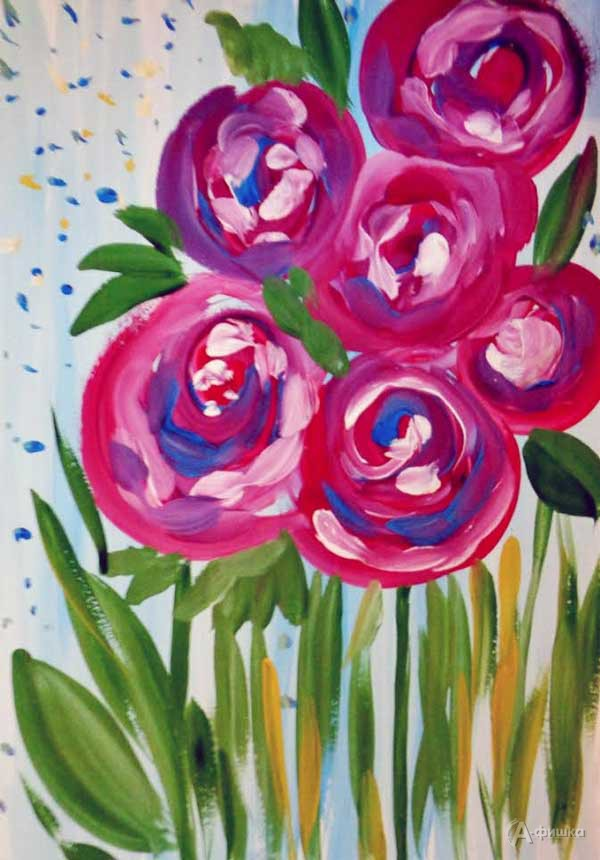 Занятие визостудии «Розы для любимой мамочки»: Детская афиша Белгорода